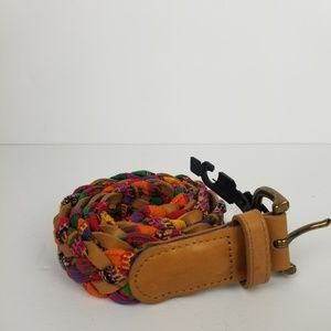 Accessories - Braided cotton and leather belt. Boho vibes.